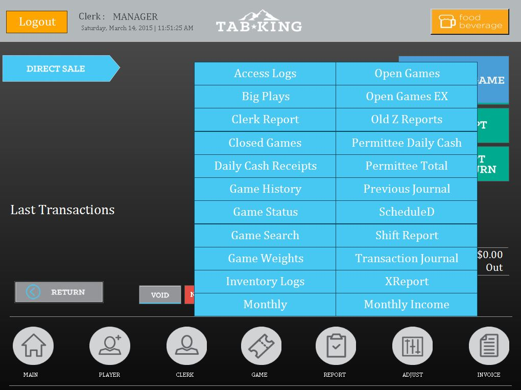 Tab King Software - Pull tabs reports
