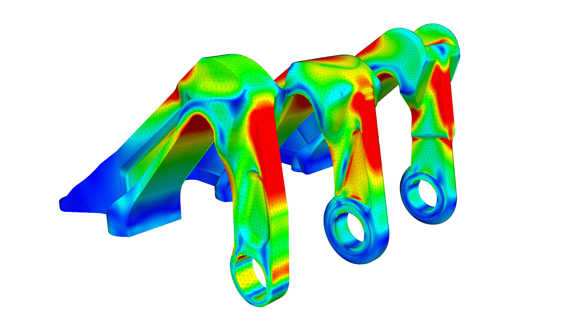 Structural analysis of the engine bracket of an aircraft engine with SimScale FEA