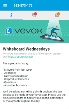 Vevox events