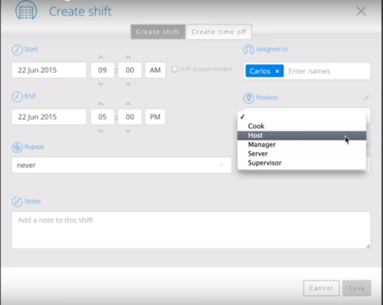 Create shifts and assign them directly to employees