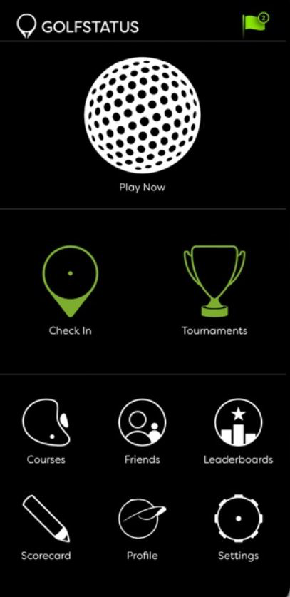 GolfStatus mobile application