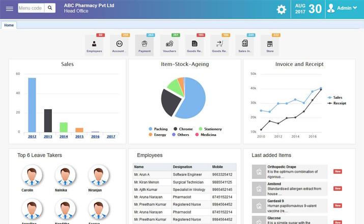 IPIX ERP - dashboard 2