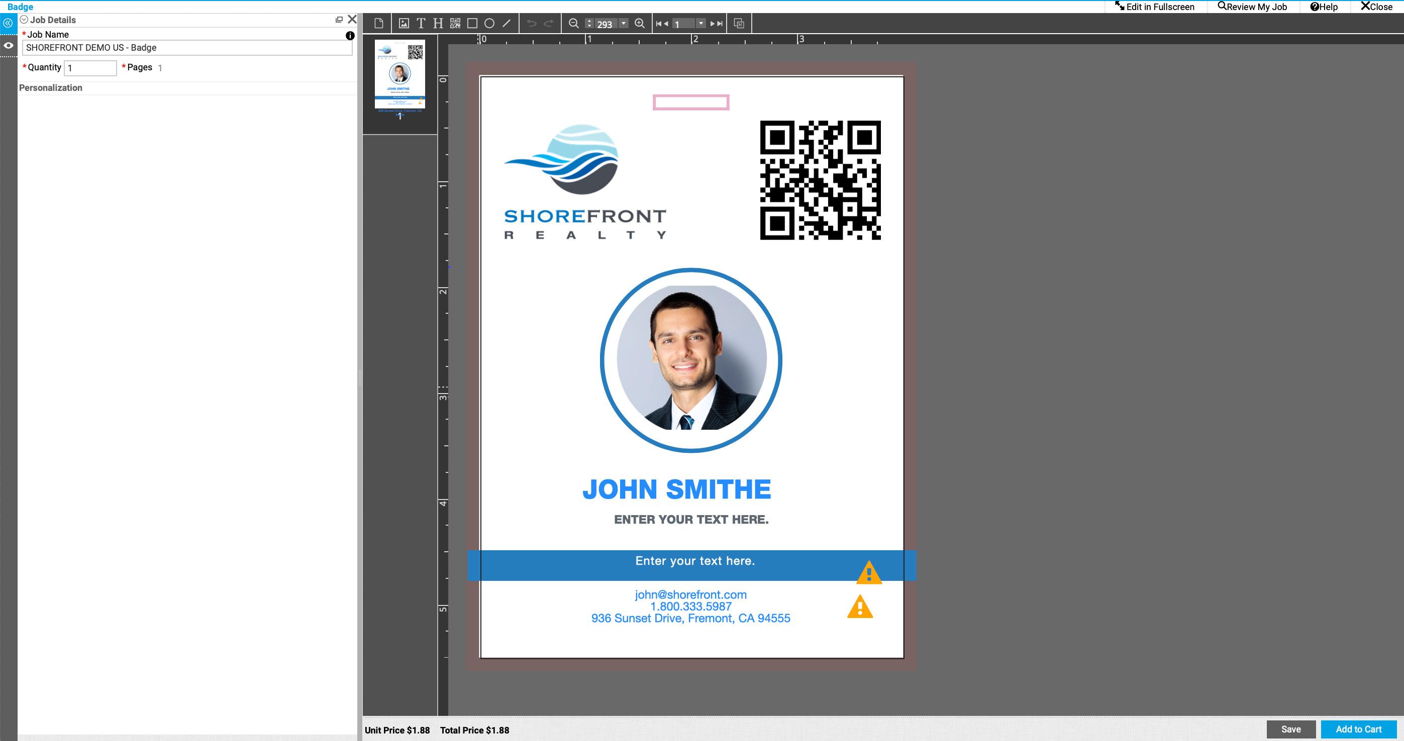Smart Canvas Badge Application