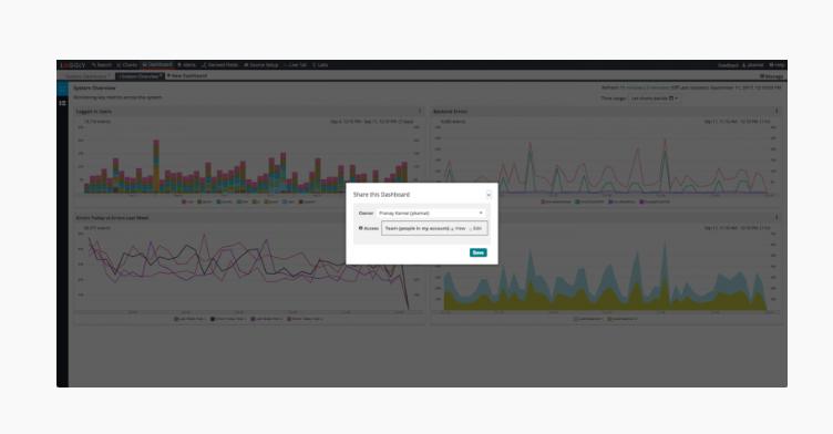 Loggly Software - Loggly collaboration screenshot