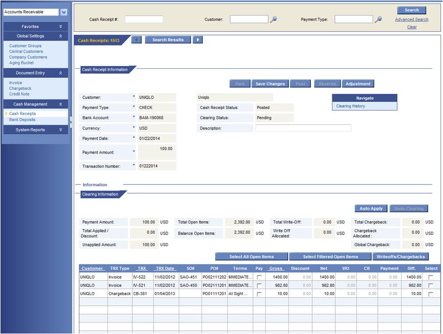 Jesta Vision Suite Software - Financial Software Module