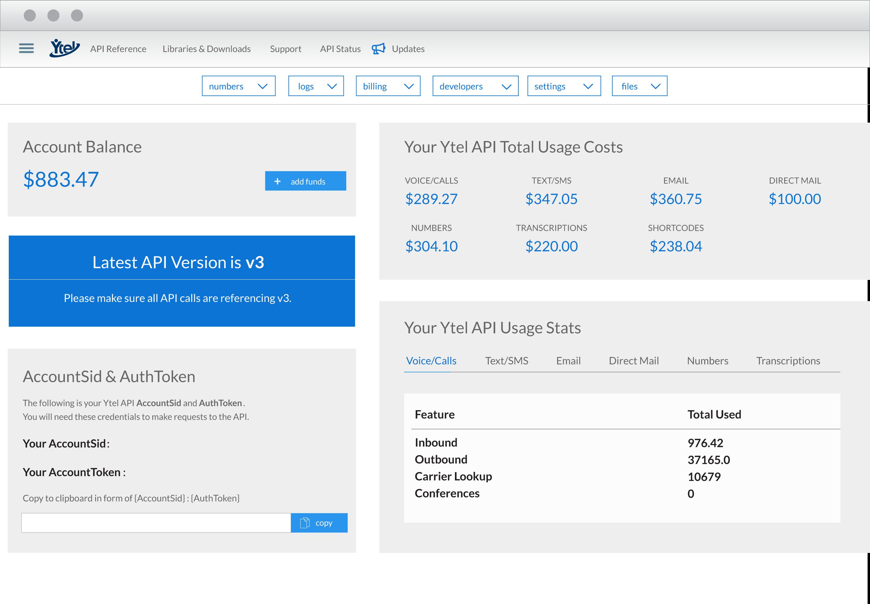 Ytel Software - Usage costs