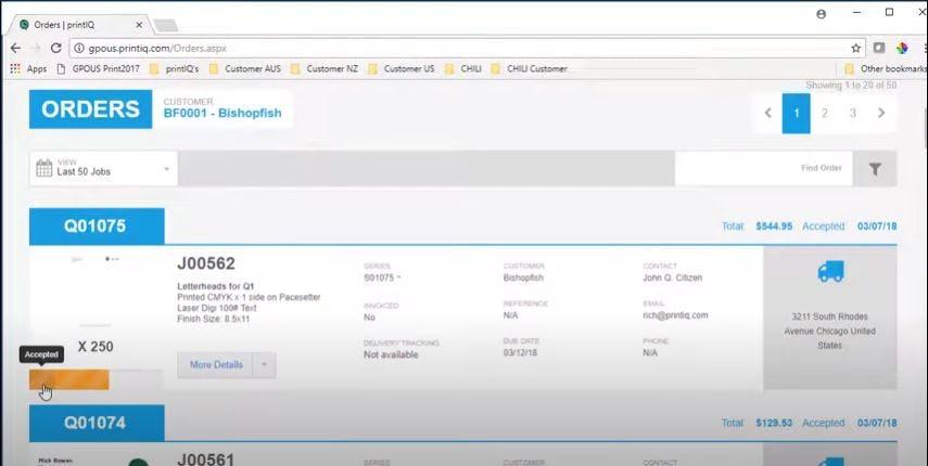 IQcore Software - IQcore managing orders