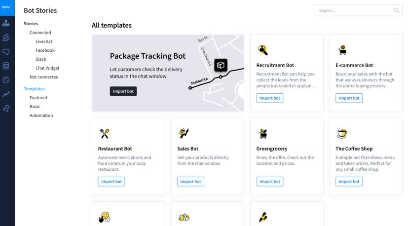 Chatbot Software - ChatBot templates