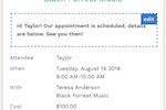 Capture d'écran pour Fons : Customizable appointment confirmations