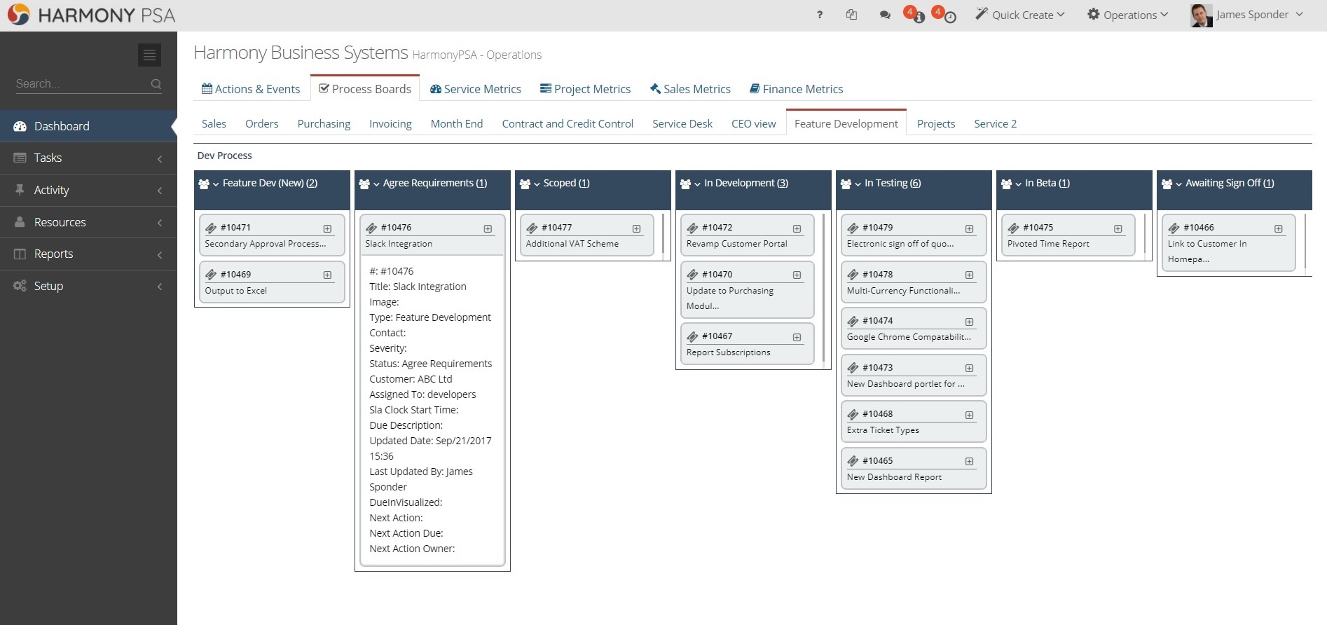 HarmonyPSA Software - Harmony delivers fully configurable and personalised Kanban boards across the entire system, from Sales to Finance. All core business processes can be visualised in seconds, published to teams or kept private.