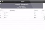 Directorpoint screenshot: View a list of agenda items and presenters