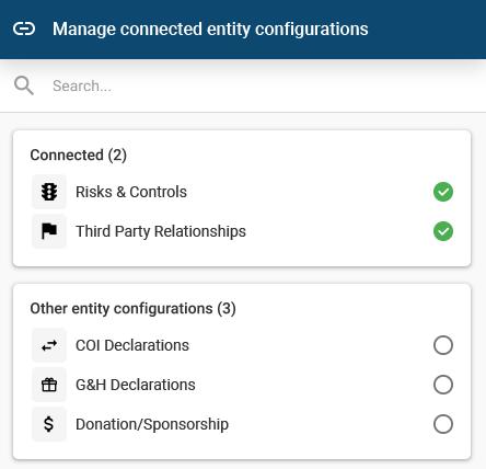 GAN Integrity entity configurations