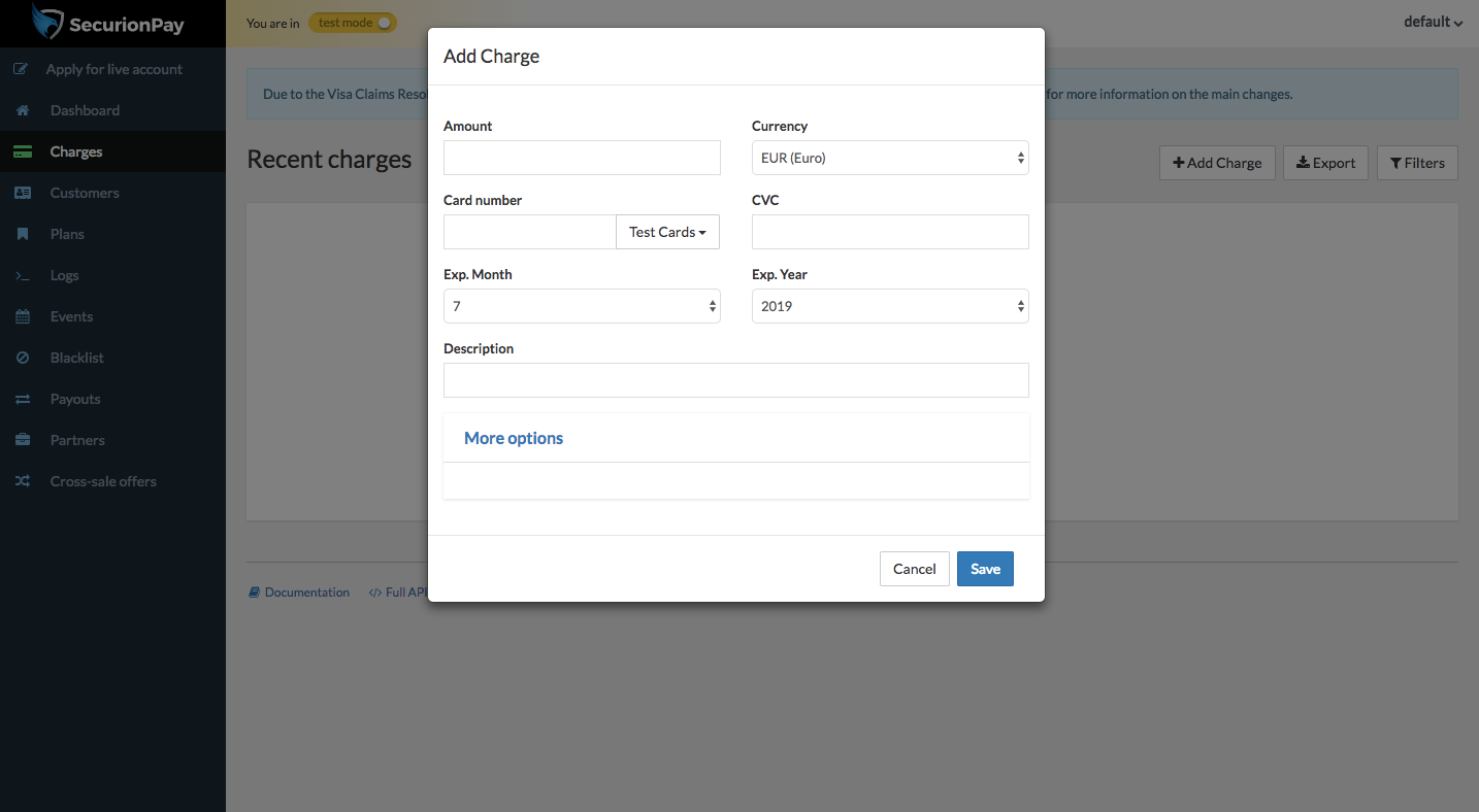 Add charges