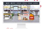 vFairs screenshot: Access a range of ready-made booth templates and choose the one that fits best