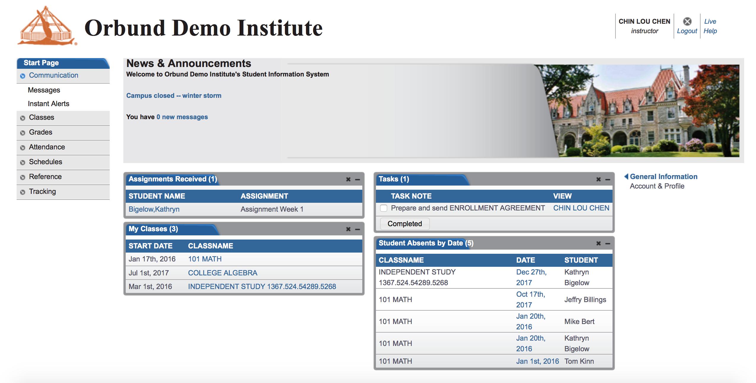 Einstein - Instructor Portal