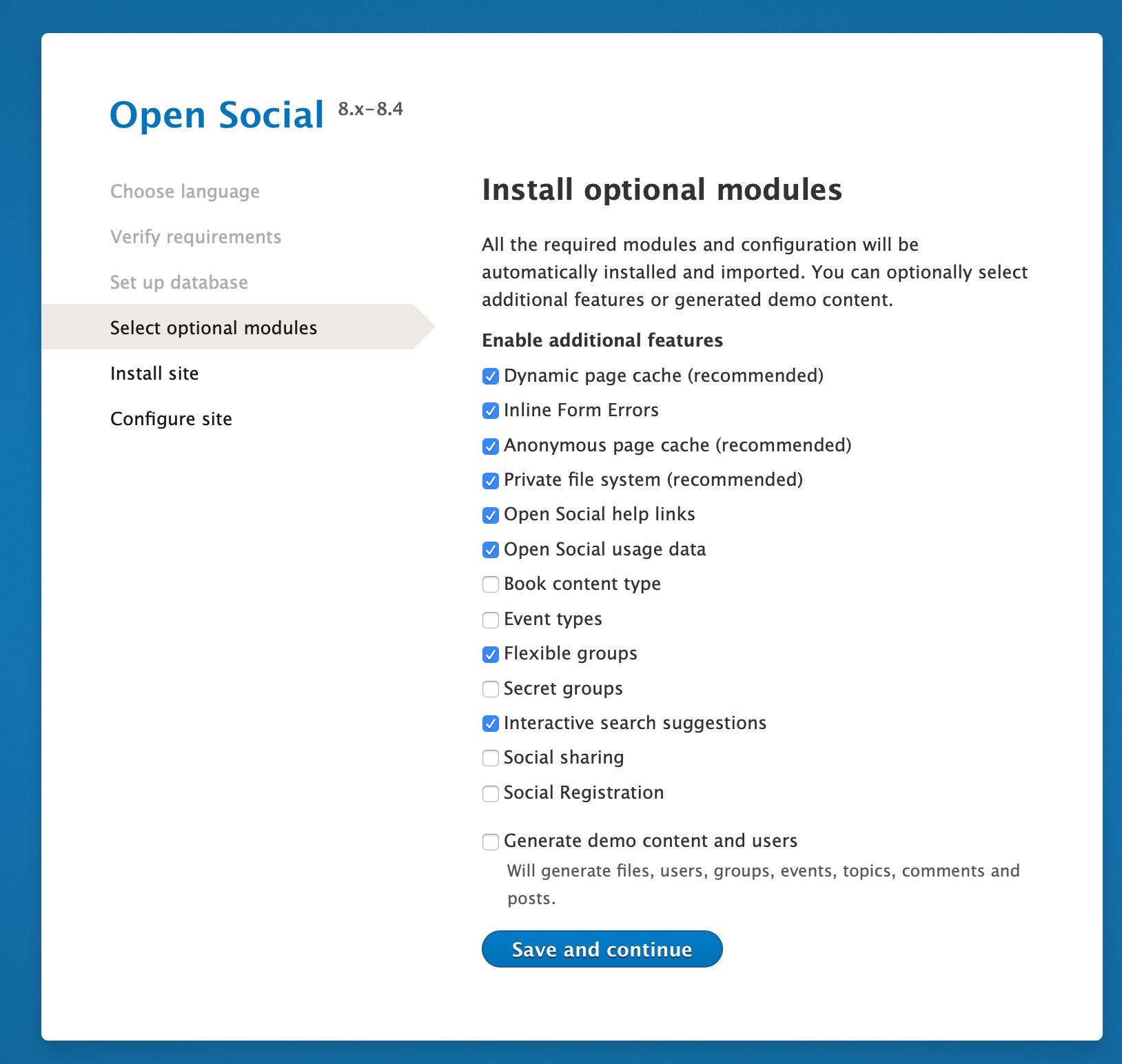 Open Social adding modules
