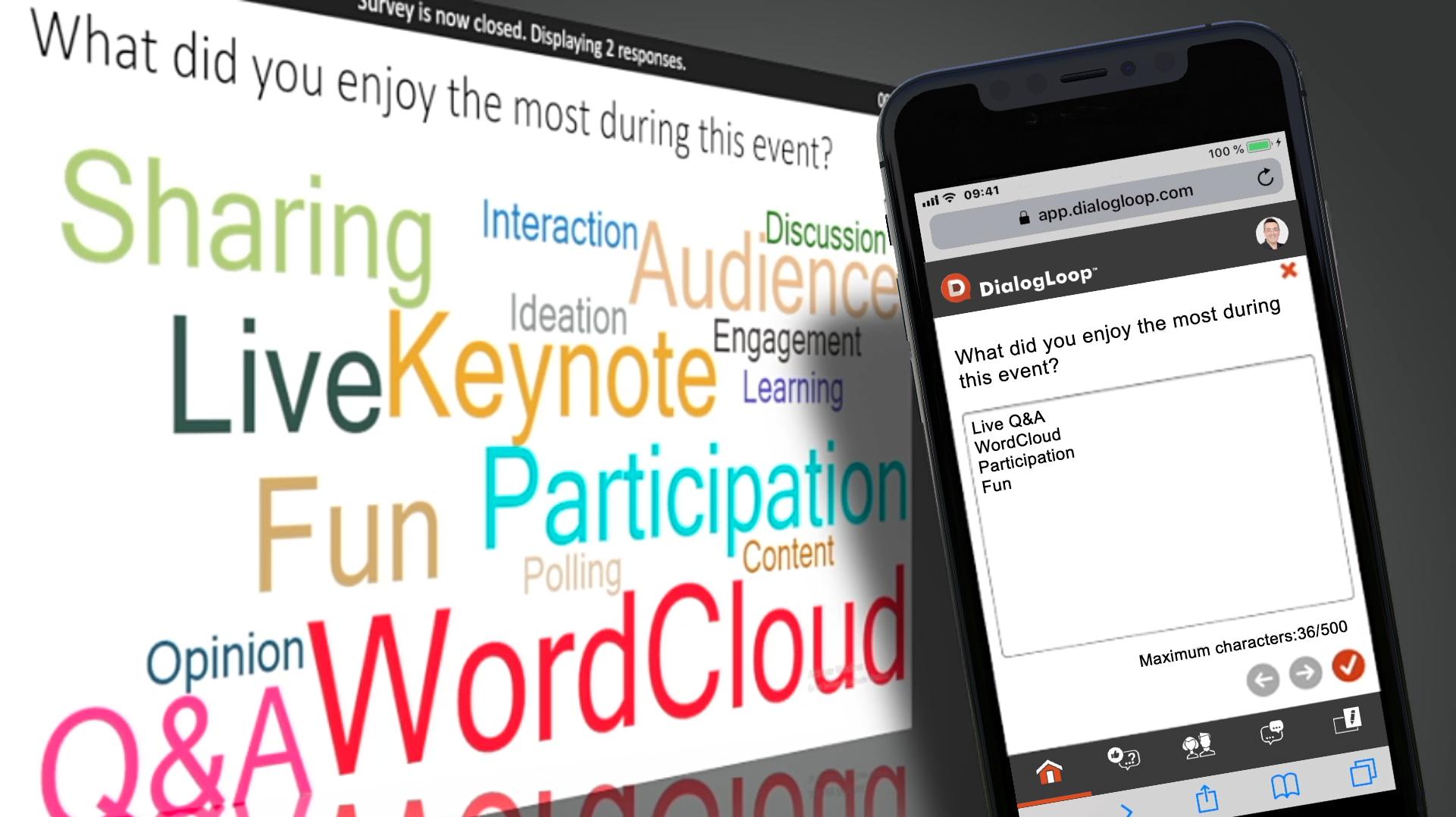 Word Cloud with DialogLoop