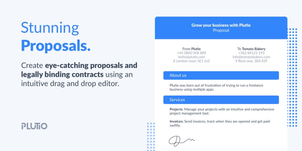 Plutio Software - Proposals