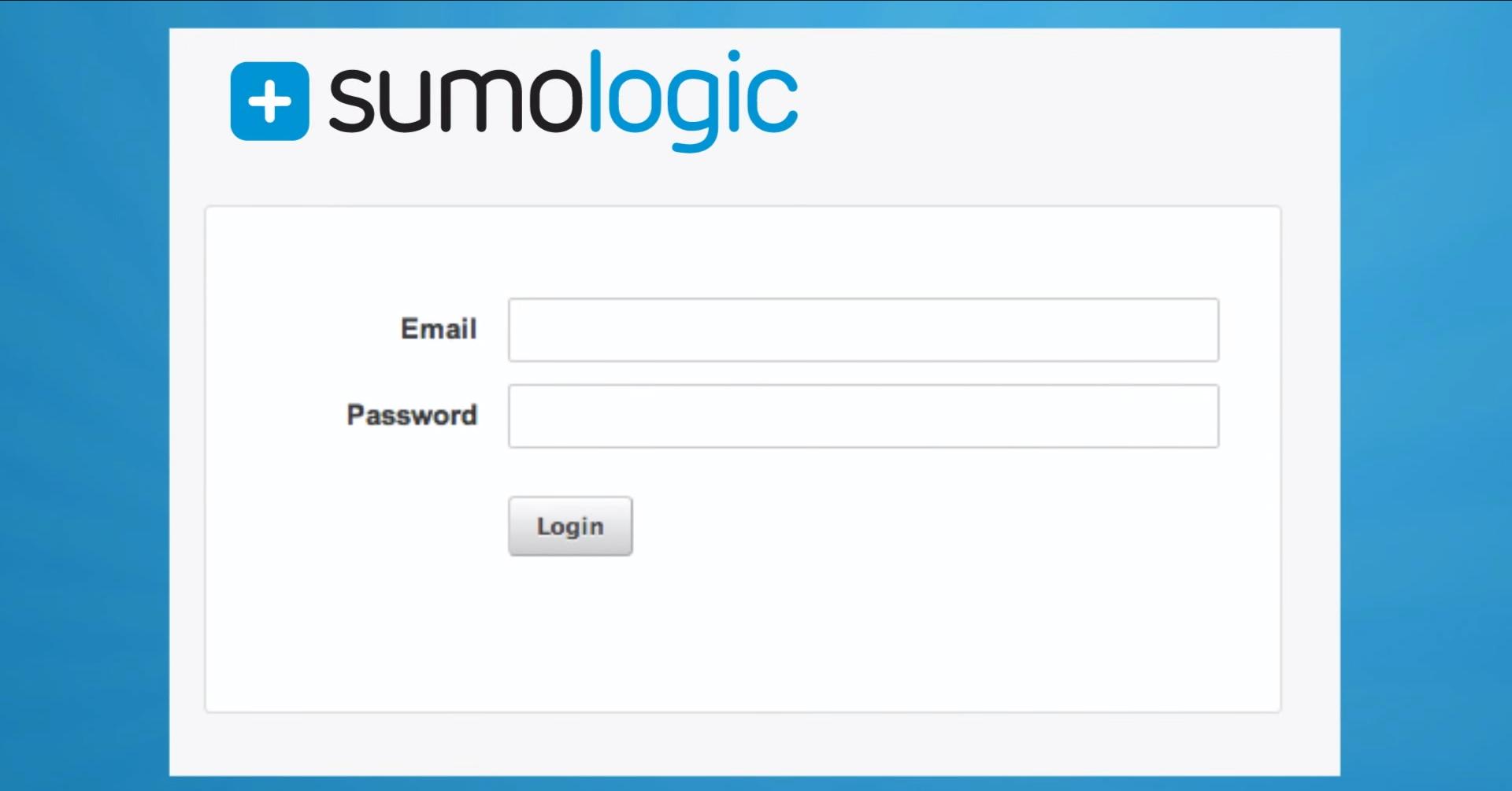 SumoLogic-LogManagement-Login