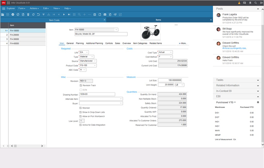 Users can personalize their user interface to fit their particular industry or team