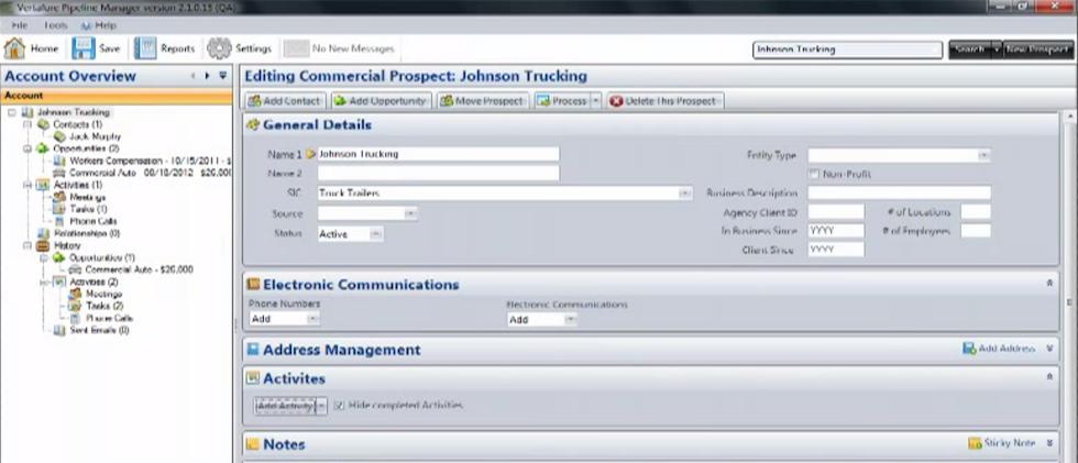 Vertafore Pipeline Manager Software - Prospect