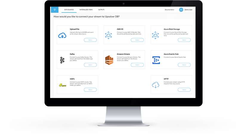 Upsolver streamlines data integration between all major input and output platforms and to the user's existing data lake