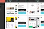 Captura de pantalla de Moosend: A range of email templates are included