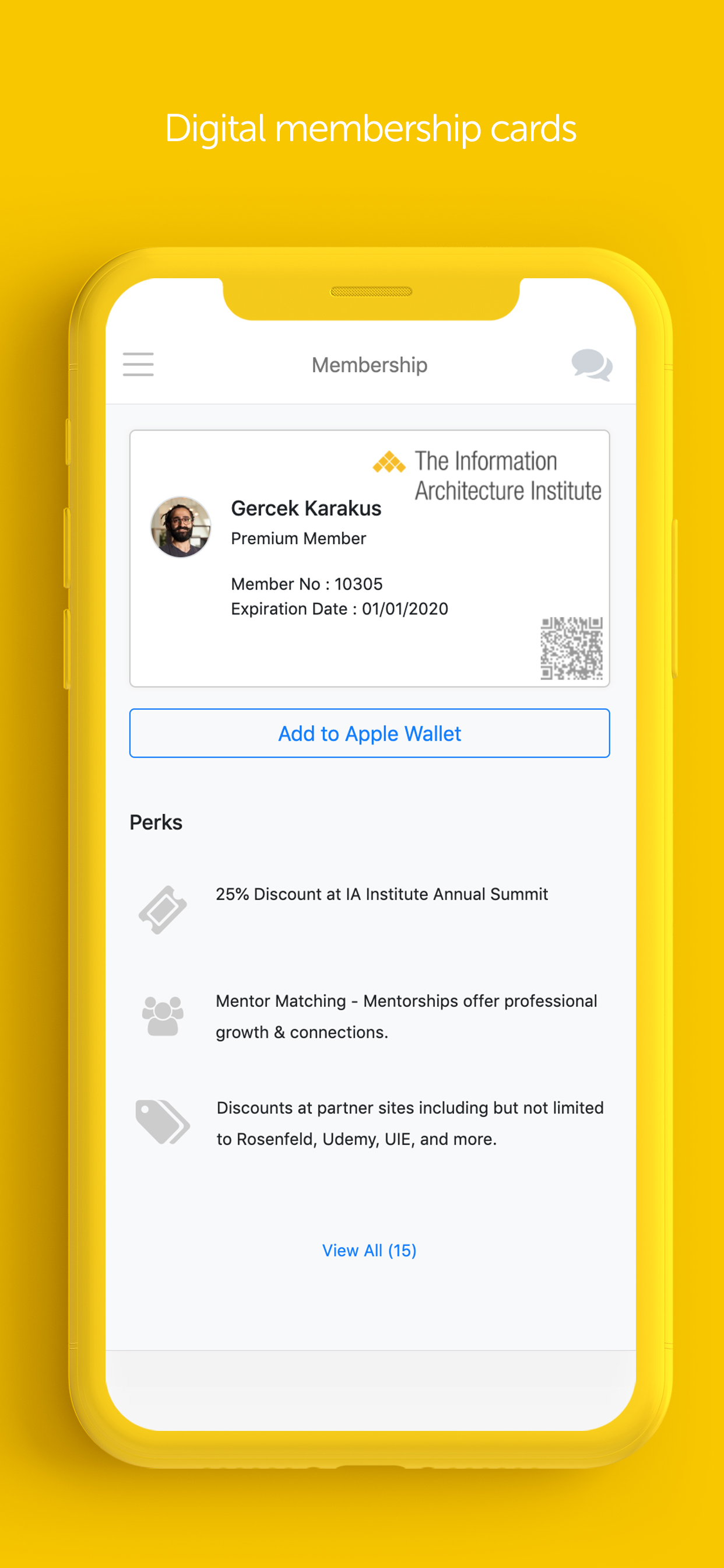 Raklet: Manage digital membership cards via mobile