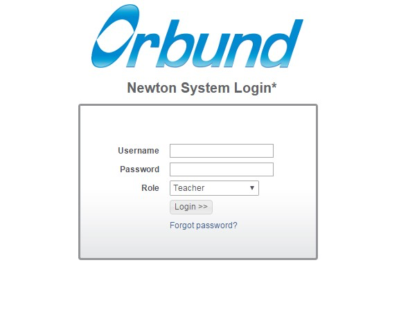 Orbund Log-in Page