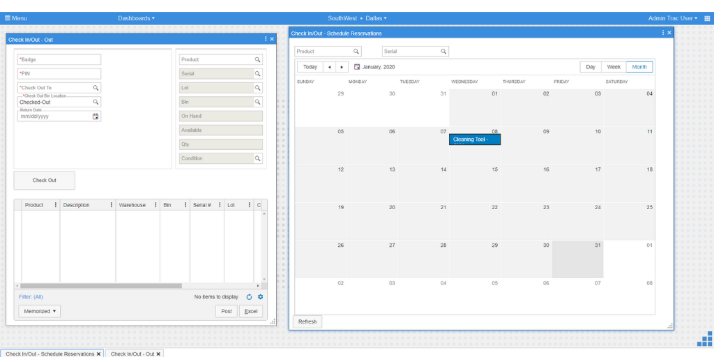 Flowtrac Software - Asset Reservations