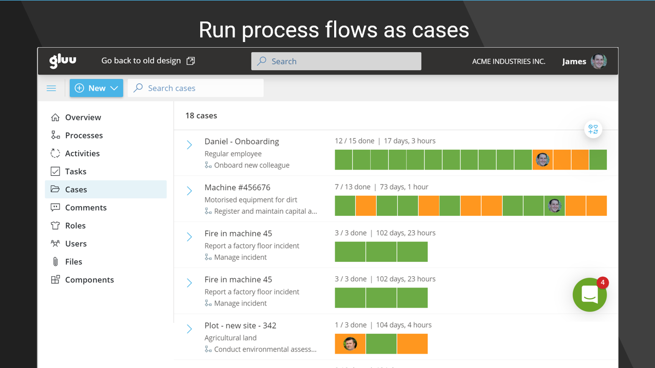 Run cases from your processes and ensure that processes are executed each time across all roles.