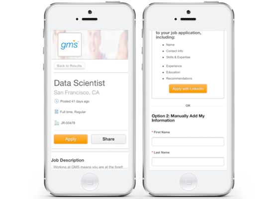Workday Recruiting Career Sites for Mobile