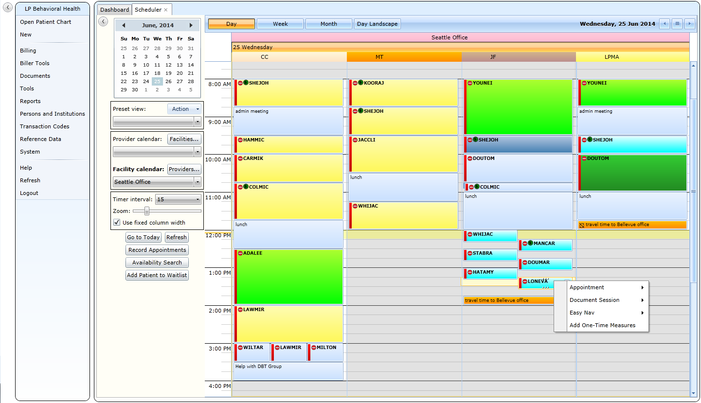 Multi-provider & location integrated scheduling