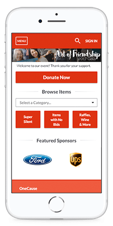 Take your auction mobile and watch your engagement and donations grow.