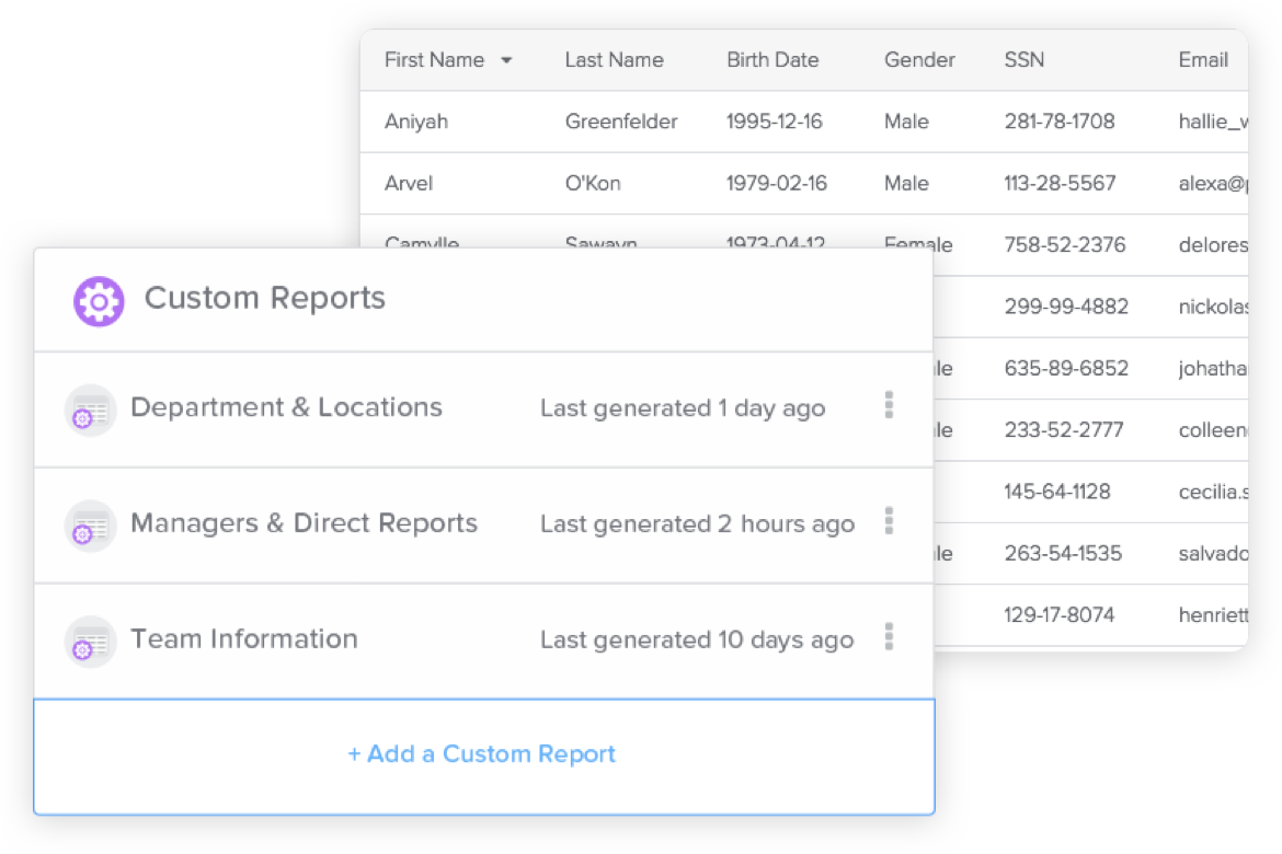 Stay a step ahead with customizable reports