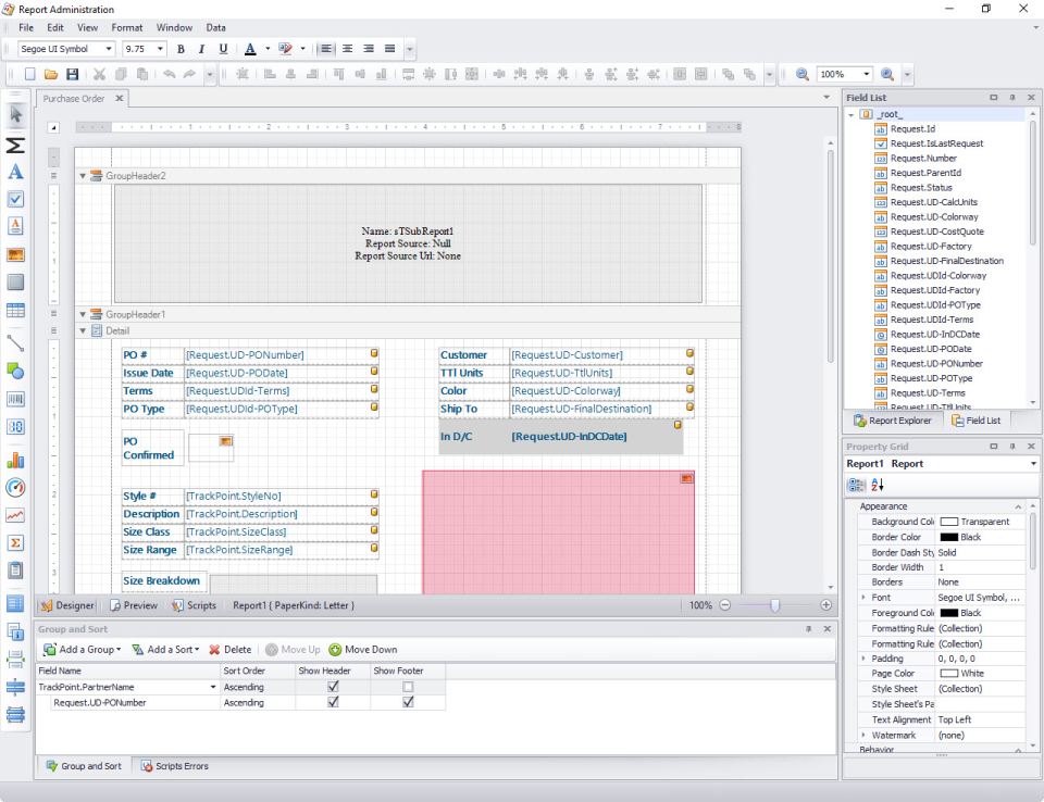 Example of report administration and Intellimas' comprehensive reporting engine with export to Excel capabilities