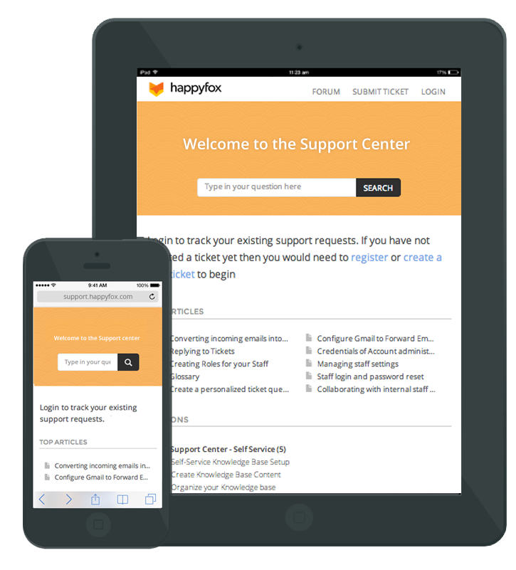 HappyFox Help Desk Software - Mobile Knowledge Base