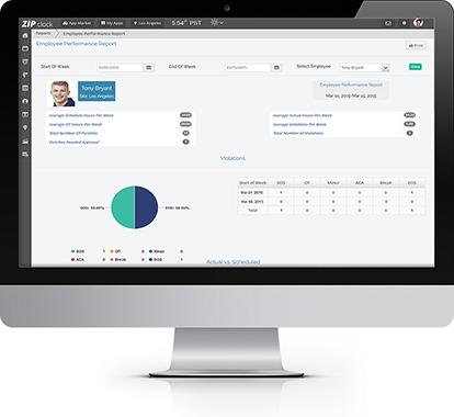 Enforce employee schedules with Zip Clock integration