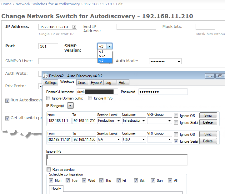 Objects can be auto-populated, leveraging network auto-discovery using SNMP while API support invites the use of scripting platforms for maintaining documentation