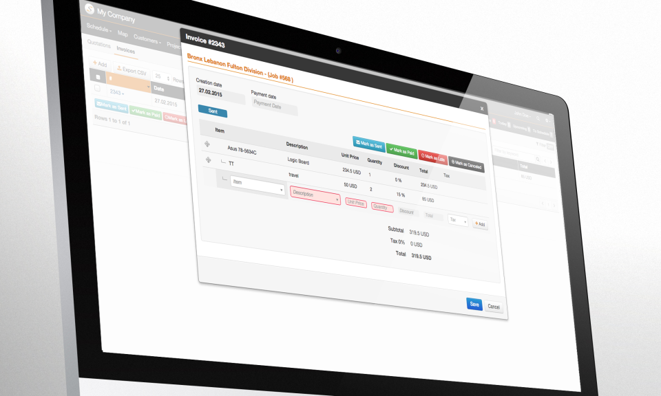Synchroteam Software - Invoice
