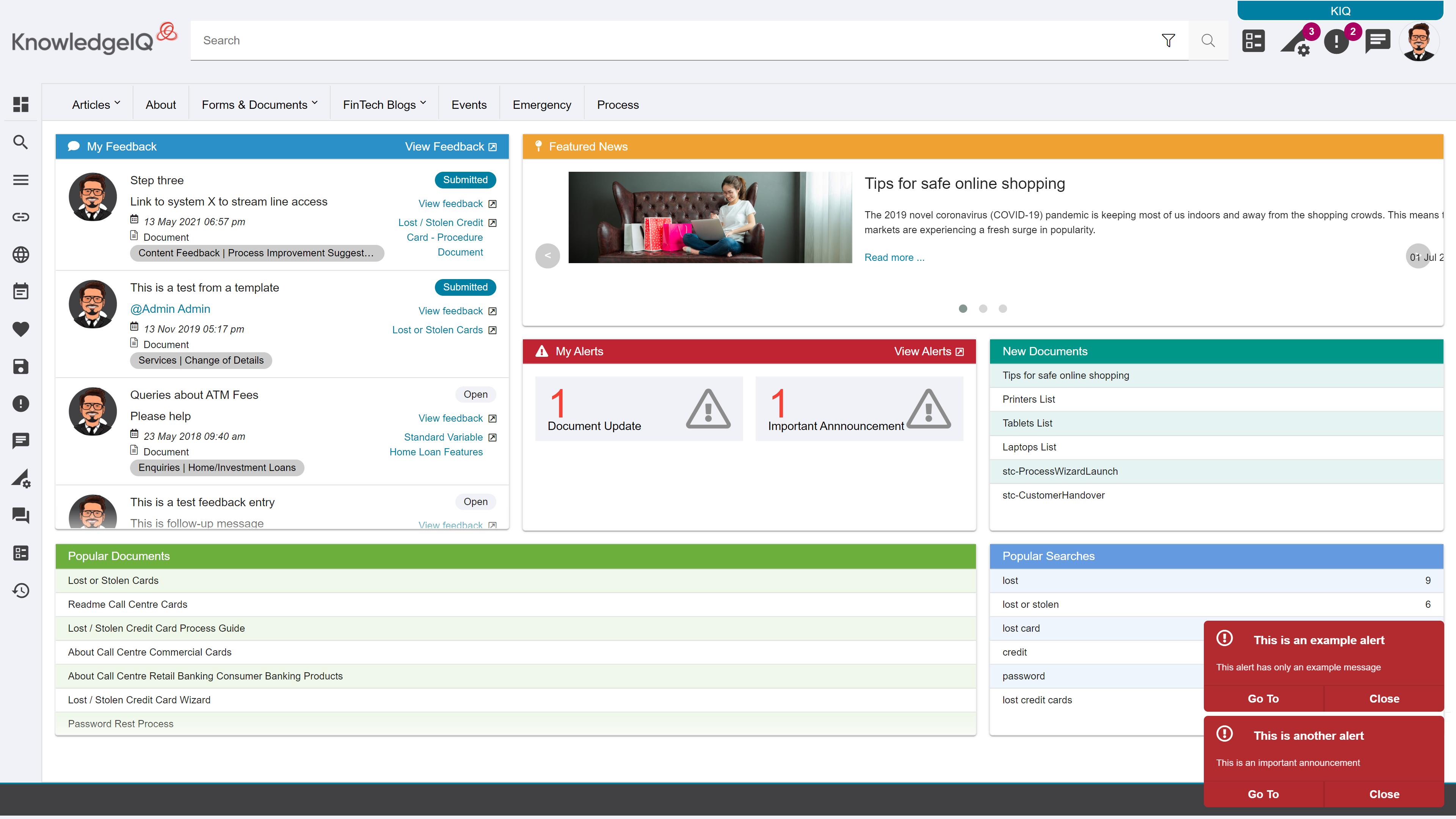 Knowledge Management User Portal