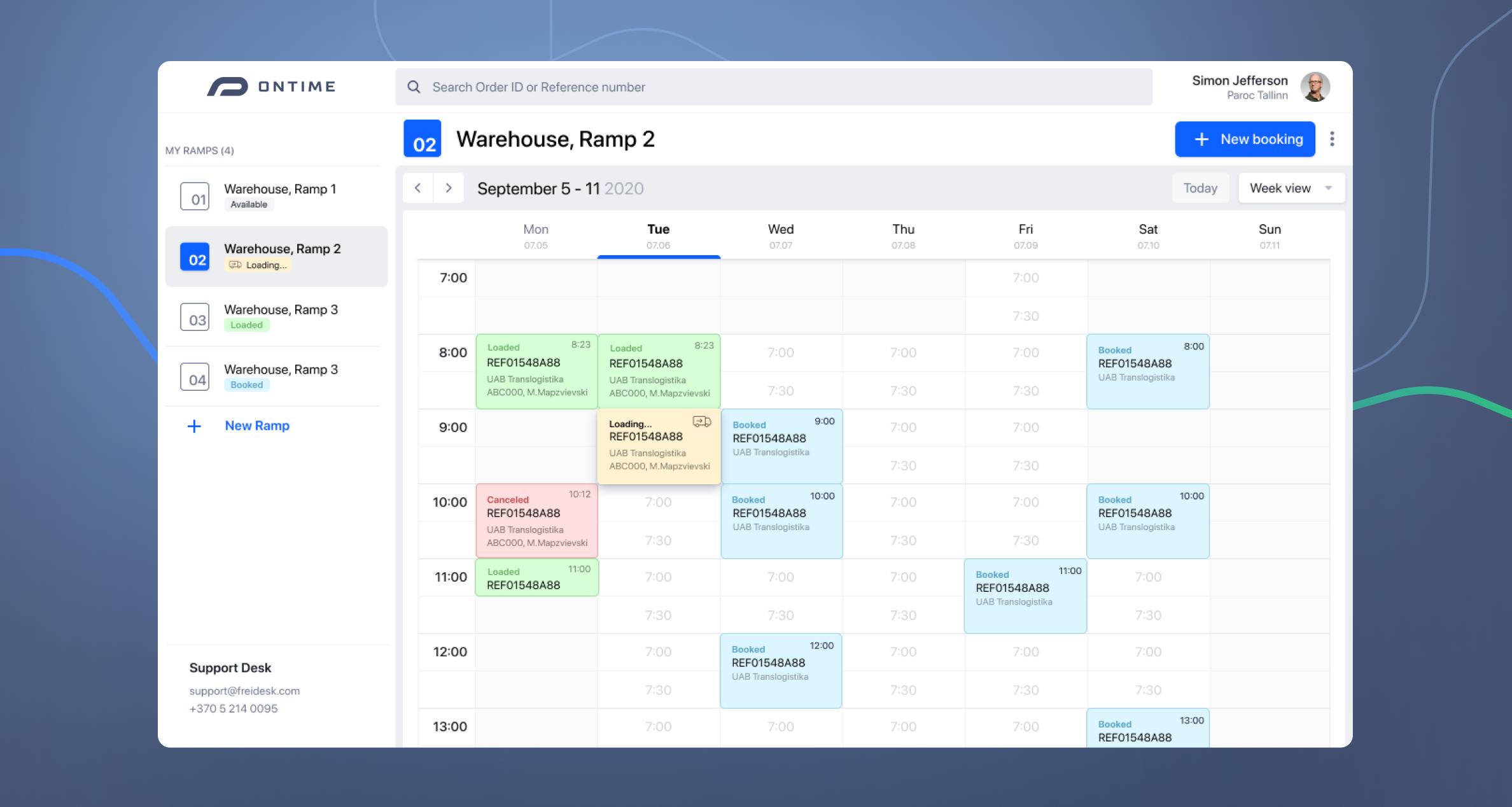 Freidesk calendar
