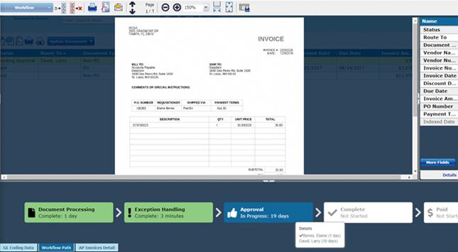 DataServ SaaS AP Automation Software - Invoice Workflow Path