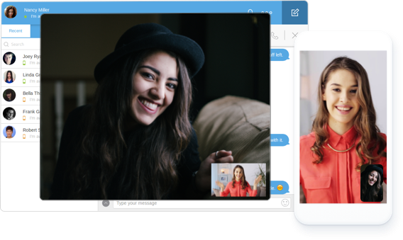 CometChat audio/video chat