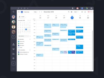 Shift calendar management screenshot