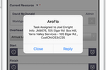 Capture d'écran pour AroFlo : Mobile job notifications for instant updates in the field