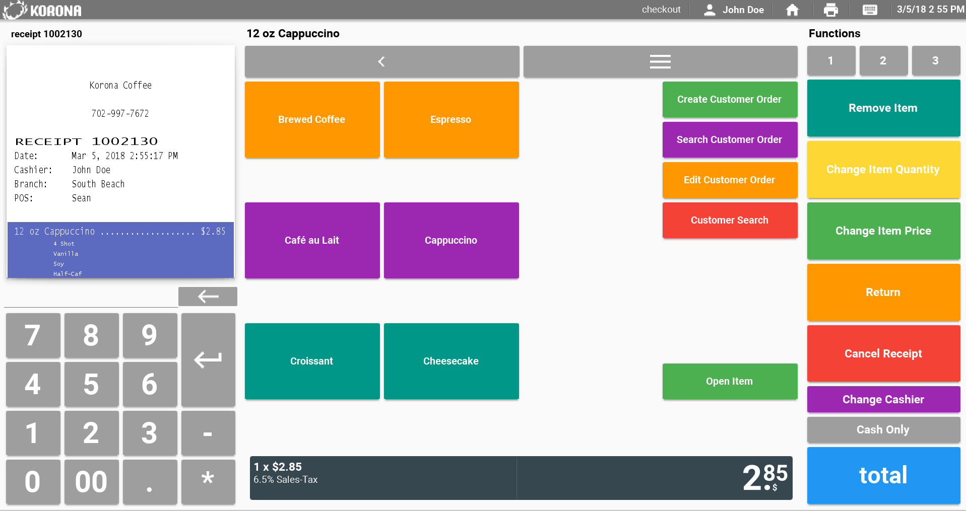 The employee user experience is easy to learn and features an intuitive POS interface. All buttons, menus, and layout are easily customizable.