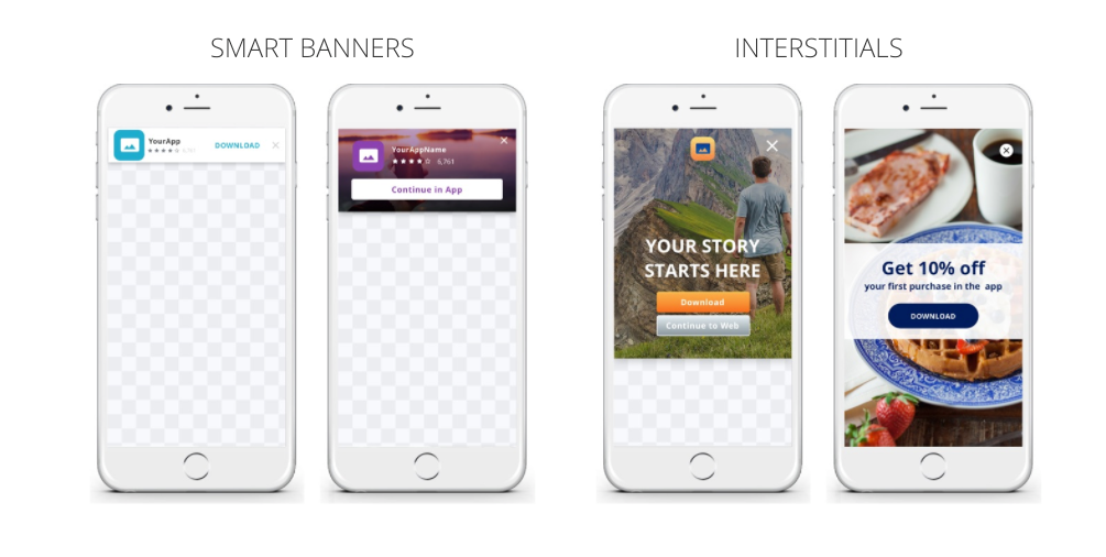 Branch smart banners and interstitials