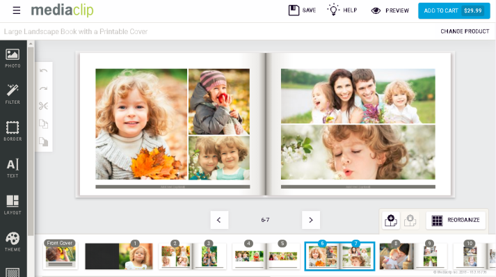 Mediaclip  screenshot: Mediaclip HUB HTML5 designer