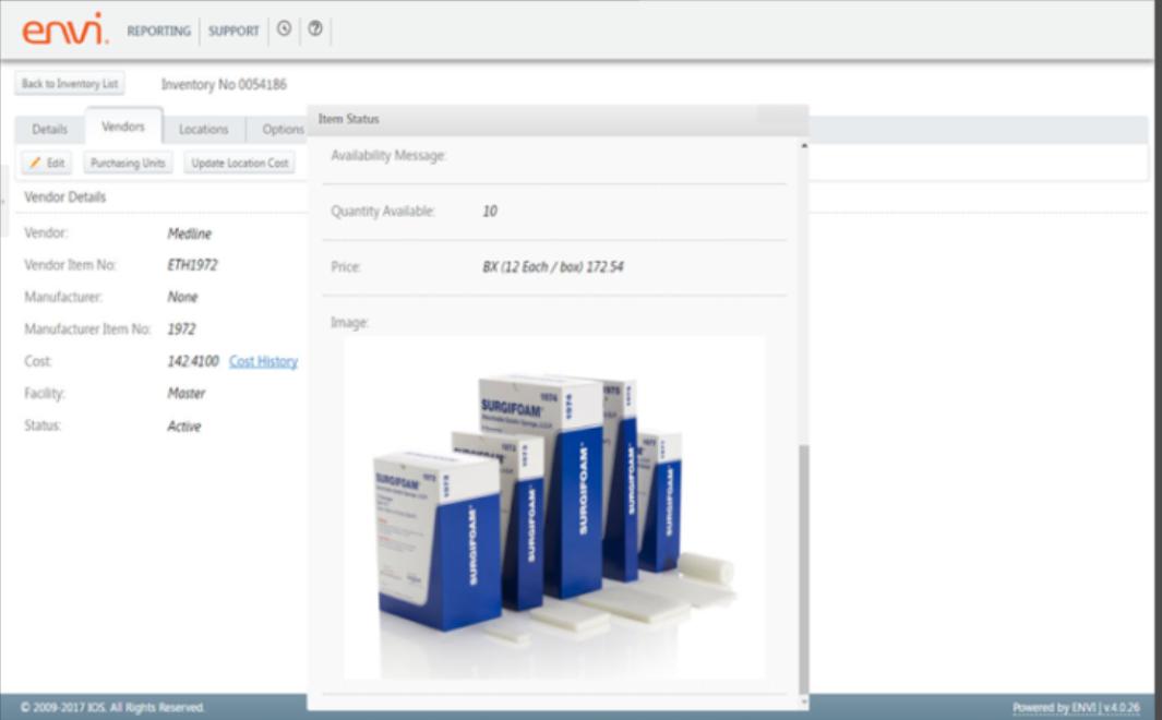 Envi vendors screenshot